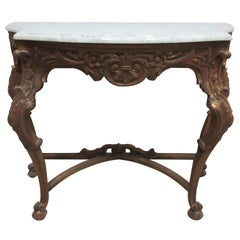 Original Swedish Rococo Console Table