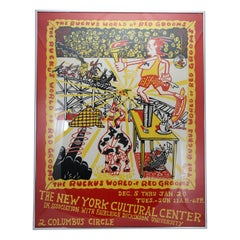 Original The Ruckus World of Red Grooms Exhibition Poster, New York, 1973