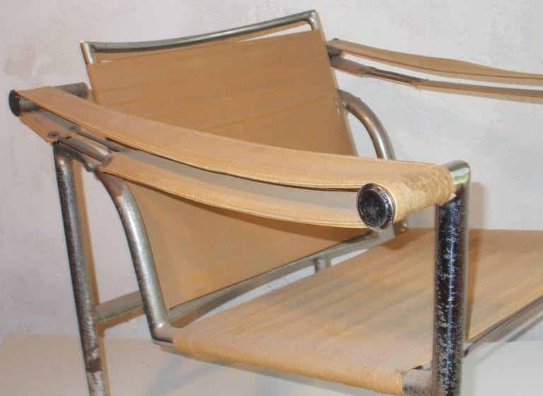Hand-Crafted Original Thonet Le Corbusier LC1 'Basculant' Armchair For Sale