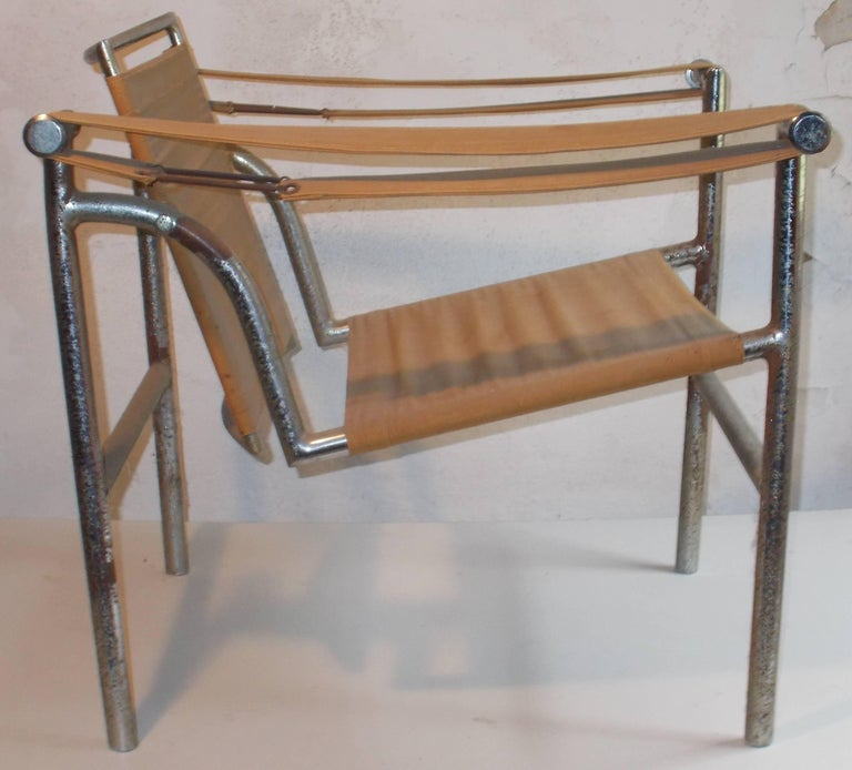 Original Thonet Le Corbusier LC1 'Basculant' Armchair In Good Condition For Sale In Sharon, CT