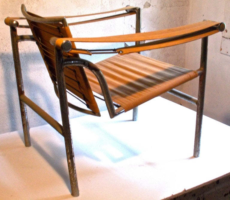 Early 20th Century Original Thonet Le Corbusier LC1 'Basculant' Armchair For Sale