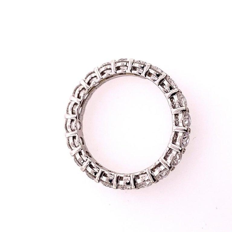 Women's Original Tiffany & Co. Platinum 1.75 Carat D-E VVS Natural Diamond Eternity Band For Sale