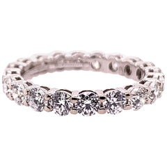 Original Tiffany & Co. Platinum 1.75 Carat D-E VVS Natural Diamond Eternity Band