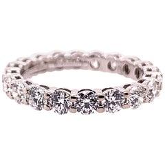 Original Tiffany & Co. Platinum 1.75 Carat D-E VVS Natural Diamond Eternity Band