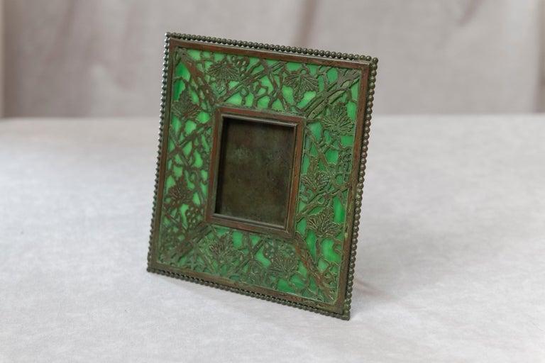 Art Nouveau Original Tiffany Studios Pine Needle Picture Frame, Signed, circa 1905 For Sale