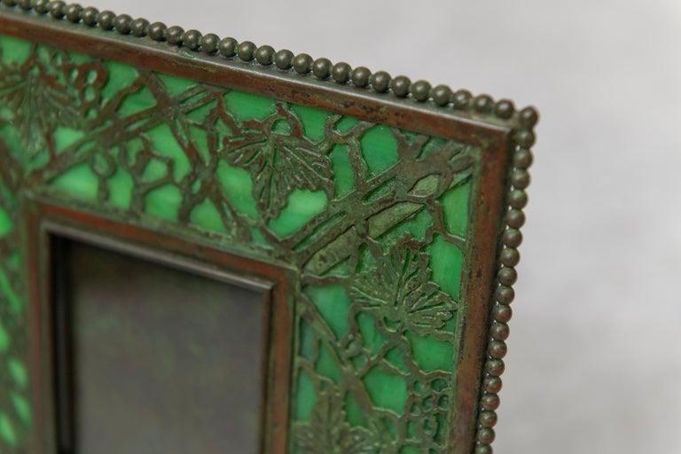 American Original Tiffany Studios Pine Needle Picture Frame, Signed, circa 1905 For Sale