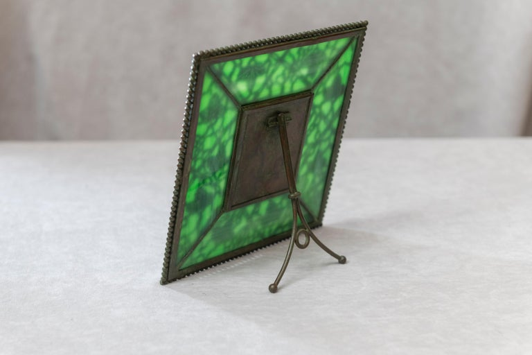 Hand-Crafted Original Tiffany Studios Pine Needle Picture Frame, Signed, circa 1905 For Sale