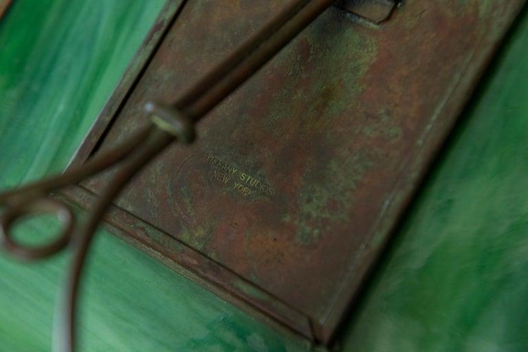 Original Tiffany Studios Pine Needle Picture Frame, Signed, circa 1905 In Excellent Condition For Sale In San Rafael, CA
