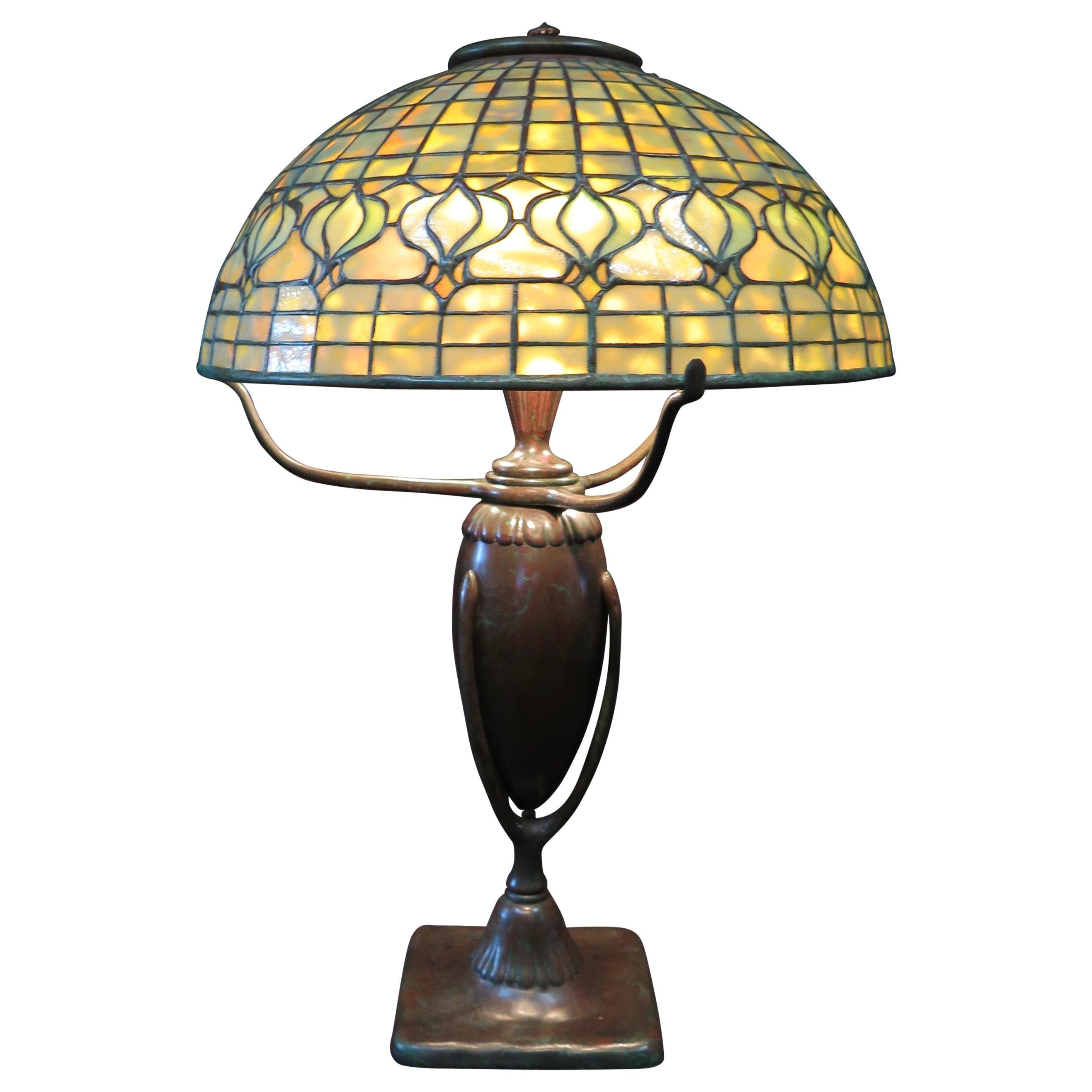 Original Tiffany Studios Pomegranate Table Lamp