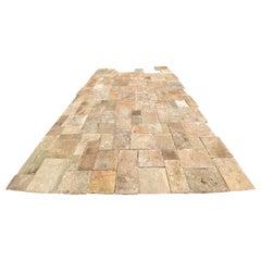 Original Timeless French Style Burgundy Reclaimed Limestone Floor