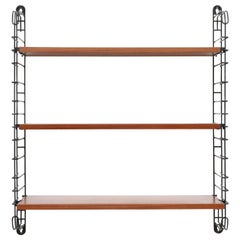 Original Tomado Industrial Teak Shelving with Deep Lower Shelf