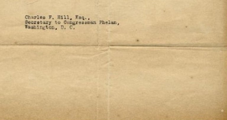 Original Typewritten Document Signed by F.D. Roosevelt, 1920 In Good Condition For Sale In Roma, IT