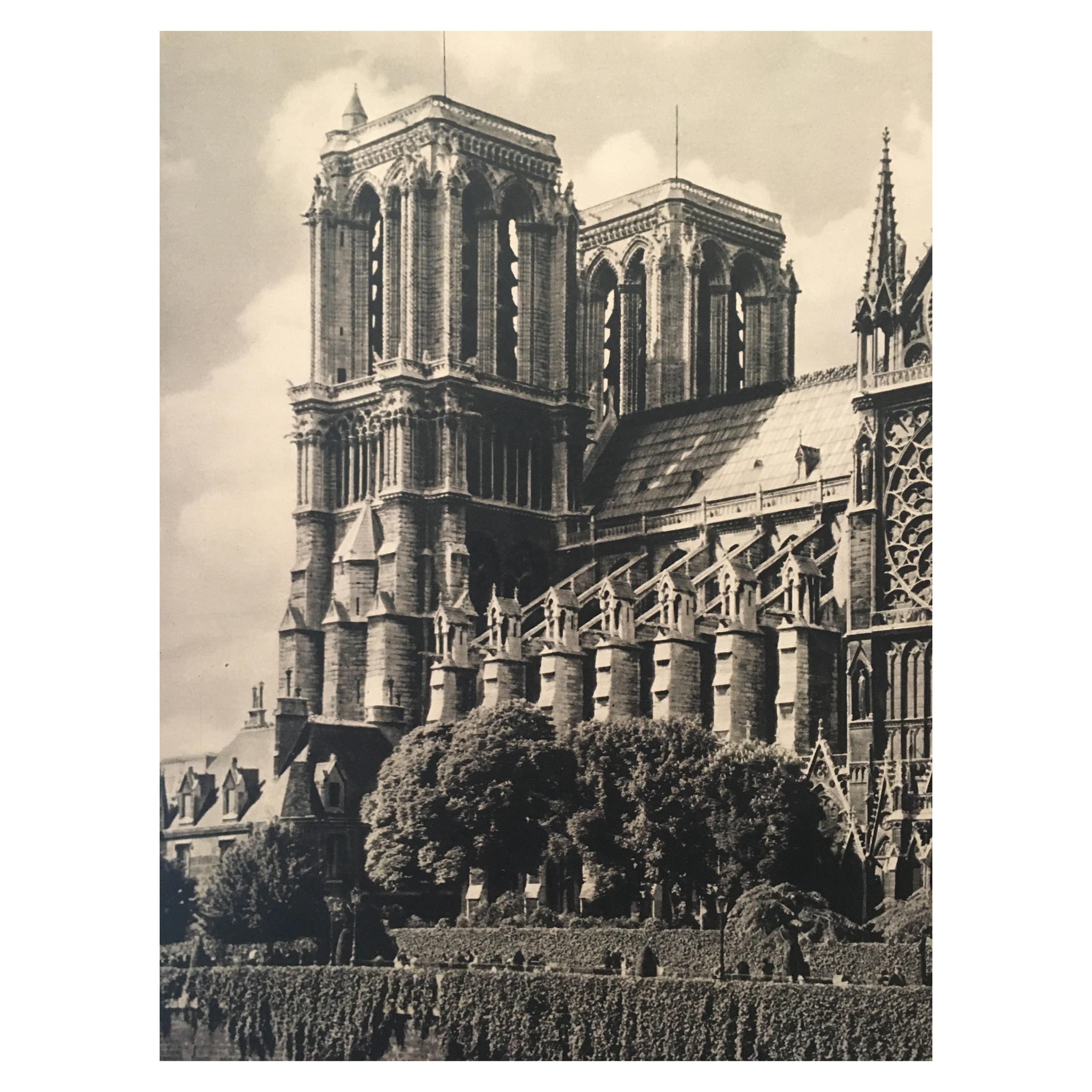 Original Vintage 1950s French Government Tourism Poster 'Notre-Dame'