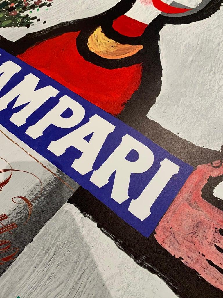 Italian Original Vintage 1960's Advertising Poster, 'CAMPARI' by Piatti For Sale
