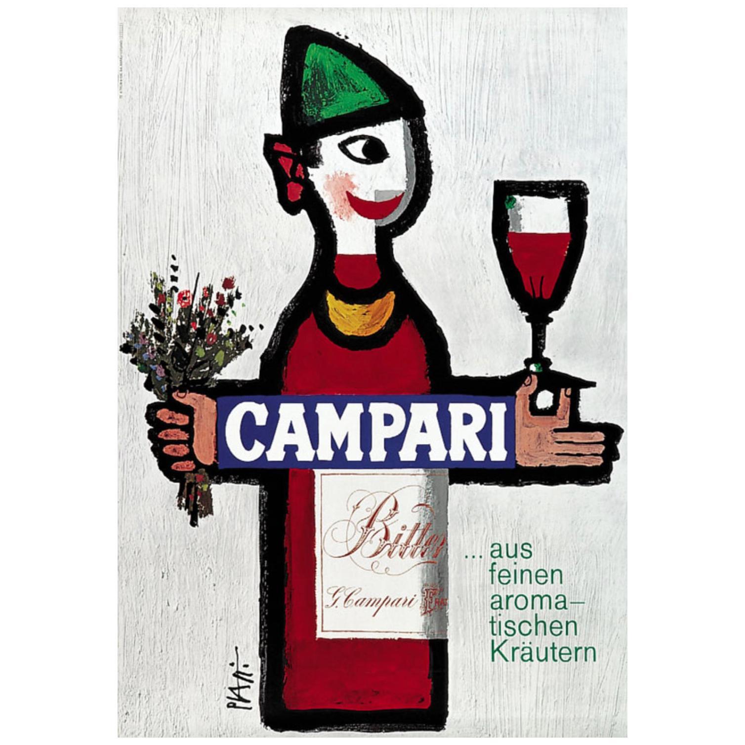 Original Vintage 1960's Advertising Poster, 'CAMPARI' by Piatti