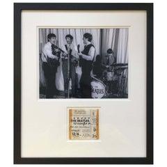 Original Vintage 1963 Beatles Concert Ticket