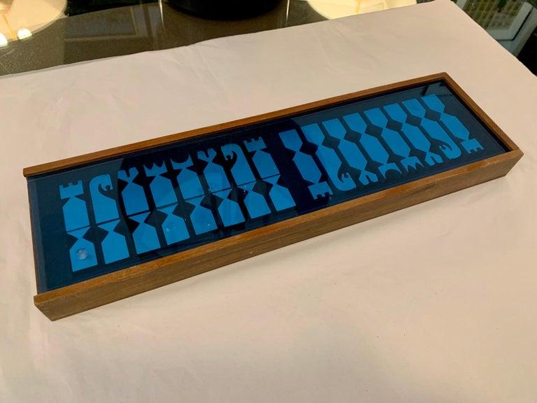 Mid-Century Modern Original Vintage 1966 Austin Cox Chess Set For Sale