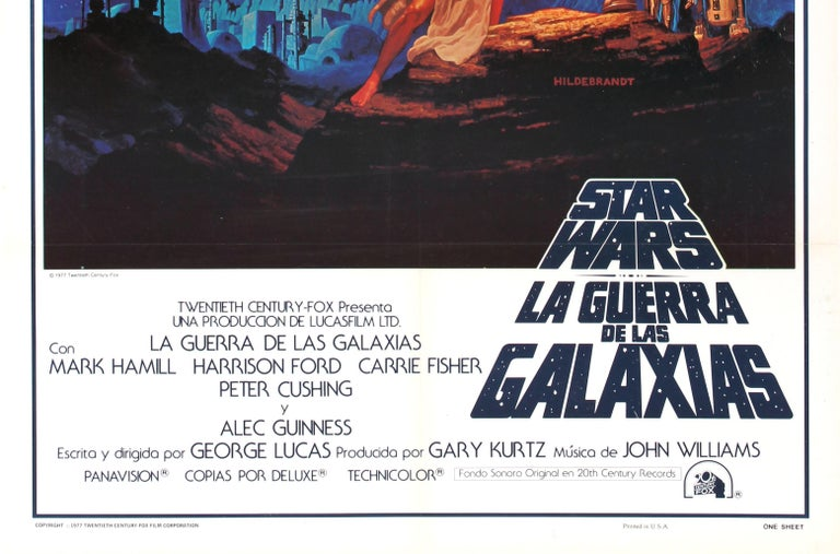 Original Vintage 1977 Iconic Star Wars Movie Poster By The Hildebrandt Brothers In Good Condition For Sale In London, GB