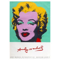 Original Vintage Andy Warhol Art Exhibition Poster Marilyn Monroe Pop Art Design