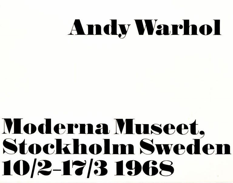 Swedish Original Vintage Andy Warhol Exhibition Poster I Like Boring Things Modern Art