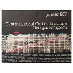 Original Vintage Architectural Poster 'Georges Pompidou', Modern Art Museum 1977