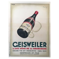'Original Vintage Art Deco Poster, 'Geisweiler' by Marton, 1921