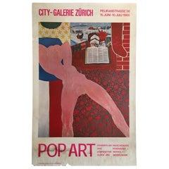Original Vintage Art & Exhibition Poster 'Pop Art City-Galerie Zurich', 1965