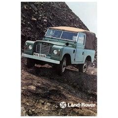 Original Vintage Car Advertising Poster British Leyland Land Rover Series III