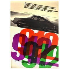 Original Vintage Car Poster Porsche 912 Character Elegance Your Lifestyle Today