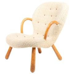 Original Vintage Clam Chair by Phillip Achtander Danish Modern, 1940s