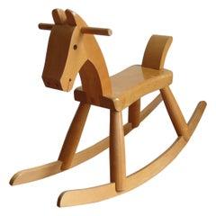 Original Vintage Danish Midcentury Kay Bojesen Wooden Rocking Horse