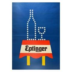 Original Vintage Drink Poster Eptinger Natural Mineral Water Graphic Design Art