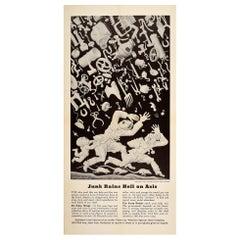 Original Vintage Earlier Victory WWII Propaganda Poster Junk Rains Hell On Axis