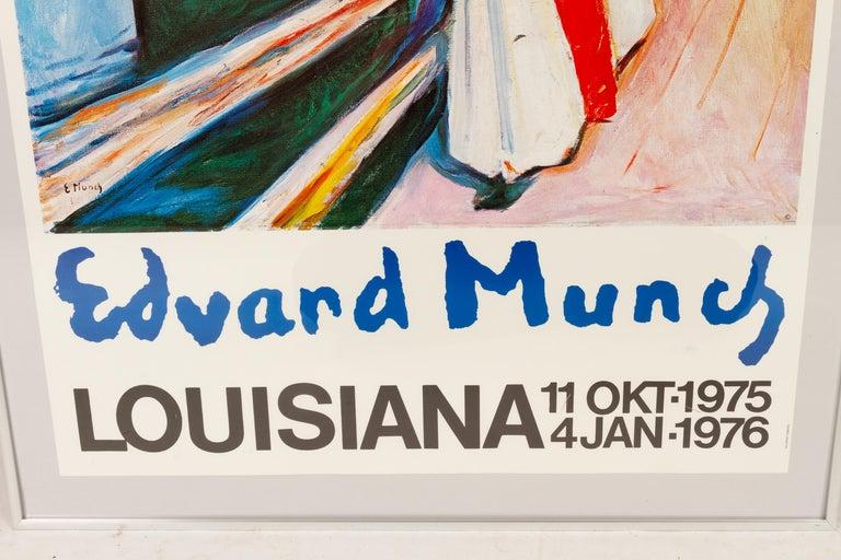 Danish Original Vintage Edvard Munch Exhibition Poster, 1970s For Sale