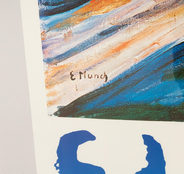 Original Vintage Edvard Munch Exhibition Poster, 1970s In Good Condition For Sale In Nibe, Nordjylland