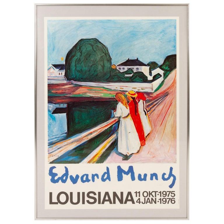 Original Vintage Edvard Munch Exhibition Poster, 1970s For Sale