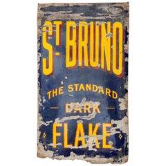 Original Vintage Enamel Tobacco Advertising, Second Quarter of the 20th Century