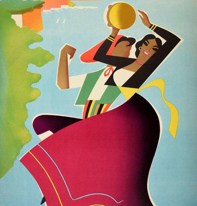 Italian Original Vintage ENIT Travel Poster Sorrento Napoli Naples Mediterranean Italy For Sale