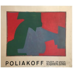 Original Vintage Exhibition Poster by Serge Poliakoff 1965 Modernist Art