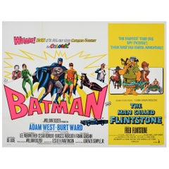 Original Vintage Film Poster Batman The Man Called Flintstone Cartoon Movie Quad