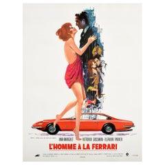 Original Vintage Film Poster For L'Homme A La Ferrari The Tiger And The Pussycat