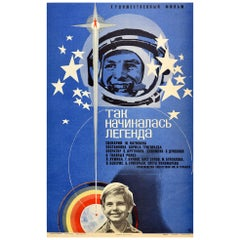 Original Vintage Film Poster How The Legend Began Yuri Gagarin Cosmonaut Pilot