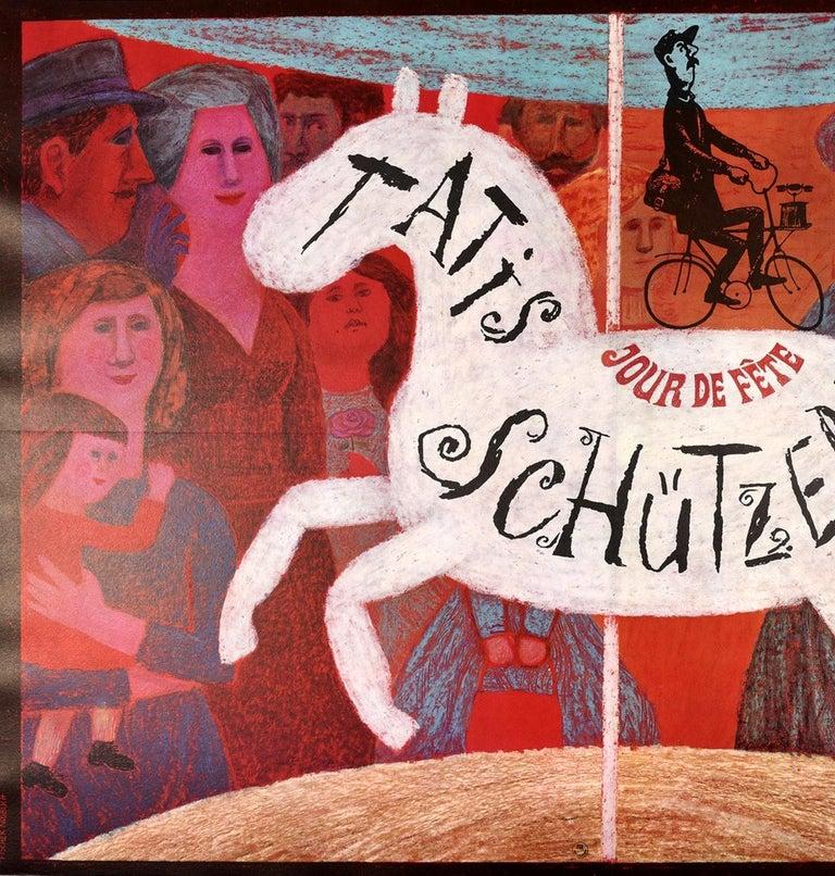 French Original Vintage Film Poster Jacques Tati Jour De Fete Schutzenfest Fun Fair Art For Sale