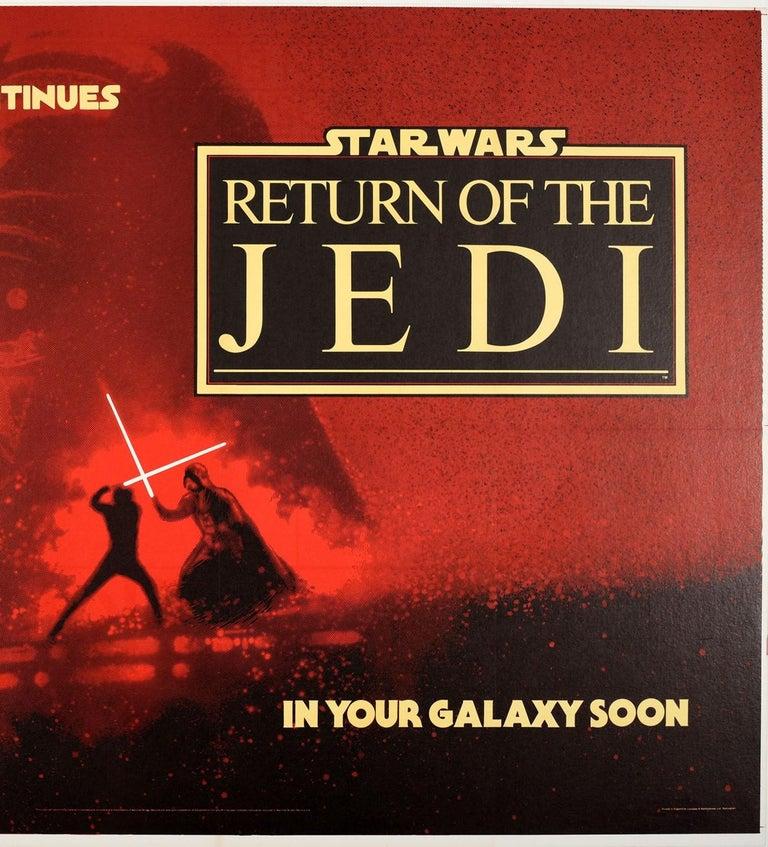 Original Vintage Film Poster Star Wars Return Of The Jedi Darth Vader Skywalker In Good Condition For Sale In London, GB