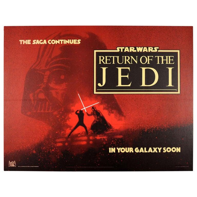 Original Vintage Film Poster Star Wars Return Of The Jedi Darth Vader Skywalker For Sale