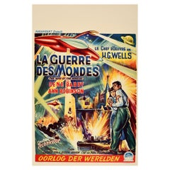 Original Vintage Film Poster The War Of The Worlds H. G. Wells Belgian Release