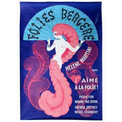 Original Vintage Folies Bergere Poster by Erte Helene Martini Cabaret Show Paris