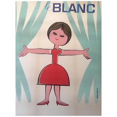 Original Vintage French 1950s Advertising Poster, 'Le Blanc'
