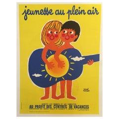 Original Vintage French Advertising Poster Jeunesse Au Plein Air by Herve Morvan