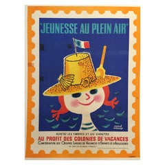 Original Vintage French Children's Poster Jeunesse Au Plein Air by Hervé Morvan